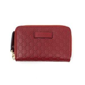 Gucci Leather Guccissima Zip Around Wallet